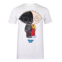Family Guy - Stewie Anatomy - T-Shirt - White - Small