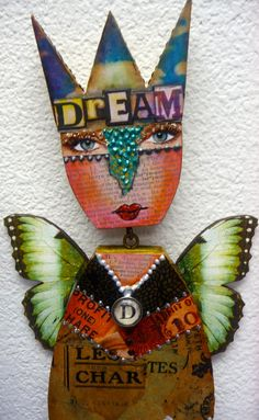 Altered Expression Art Doll  The Queen of by desertdreamstudios, $95.00