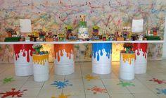 festa pintando o set