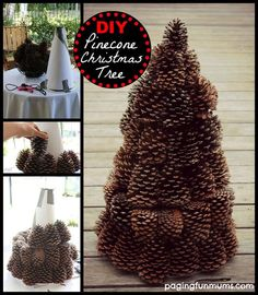 DIY Pinecone Tree christmas christmas crafts christmas ideas christmas diy diy christmas tree kids christmas crafts easy crafts for chistmasIts that time of year when there are pine cones everywhere! If you're looking for ideas for pine cone crafts, Pinecone Centerpiece, Christmas Table Centerpieces, Tree Centerpieces, Tree Decorations, Christmas Decorations, Pine Cone Crafts, Christmas Projects, Holiday Crafts, Christmas Ideas