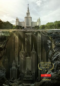 MA by Saatchi - Press & OOH campaign for Schusev State Museum of Architecture Moscow.
