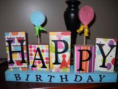The Mattsons' Adventures: Happy Birthday Decoration Fun Crafts To Do, Cute Crafts, Diy Crafts, Wood Crafts, Cute Happy Birthday, Happy Birthday Signs, Birthday Decorations, Birthday Ideas, Birthday Stuff