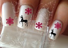 Reindeer Decals | 11 Holiday Nail Art Designs To Pretty to Pass Up