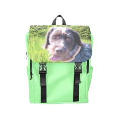 Dog and Flowers Casual Shoulders Backpack. FREE Shipping. FREE Returns. #lbackpacks #dogs