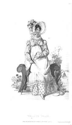 Walking Dress from Ackermann's Repository of the Arts July 1819