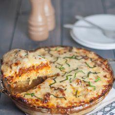 Try Spaghetti Squash Pie! You'll just need 15 oz. ricotta cheese, 1 egg, 3 cups marinara sauce, 10 oz. frozen spinach, 1 Spaghetti Squash, 1 t basil, 1t...