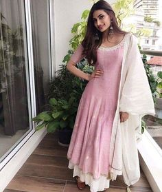 Athiya Shetty in Myoho Earrings by Minerali Store Makeup by Sahithya Shetty Hair by Susan Emmanuel Stylists - Ami Patel & Sanjay Kumar Indian Attire, Indian Outfits, Indian Clothes, Frock Fashion, Fashion Dresses, Latest Indian Fashion Trends, Stylish Dresses For Girls, Trendy Outfits, Indian Designer Suits