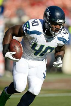 Athlete Derrick Coleman, Jr from the Seattle Seahawks! Seahawks Football, Football Fans, Seattle Seahawks, Football Helmets, Derrick Coleman, Superbowl Champions, 12th Man, Mens Fitness, Super Bowl