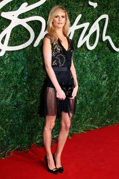 Poppy Delevingne wearing Topshop at British Fashion Awards 2014 |