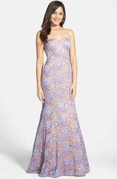 b41596f3688 Hailey Logan Embroidered Lace Strapless Mermaid Gown (Juniors)