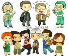 NCIS cartoon. Wait, is that Kate!?!?!?! Excuse me while I go cry in a corner for her and Jenny. ;|