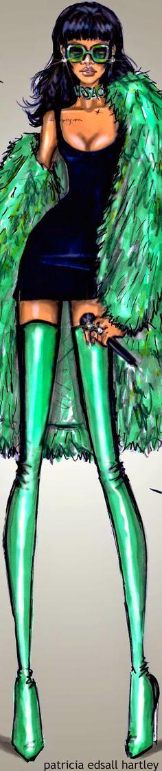 Rihanna by Hayden Williams Fashion Illustration | House of Beccaria~