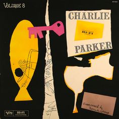 Cover design by David Stone Martin for Volume 8, a compilation of Charlie Parker-recordings (1953).