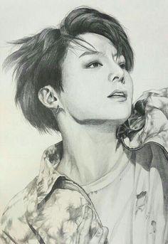 ─ 𝘴 𝘶 𝘲 𝘢 𝘱 𝘭 𝘶 𝘮 --✧ drawings bts, bts drawings ve fan art Jungkook Fanart, Kpop Fanart, Bts Jungkook, Kpop Drawings, Art Drawings Sketches, Bts Art, Bts Anime, Jung Kook, Bts Wallpaper