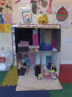 Great article on making barbie doll house furniture from ordinary household items