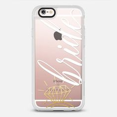 Bride | Gold Wedding Ring - protective iPhone 6 phone case in Clear and Clear by Katie Clark #bride | @casetify