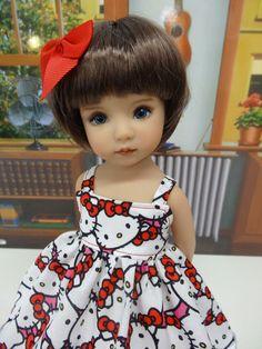 "Hello Kitty Cutie - dress & shoes for Dianna Effner Little Darling Dolls 13"" #DiannaEffner"