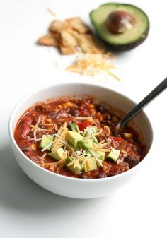 Easy Taco Soup by thefauxmartha #Soup #Taco #thefauxmartha