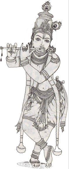 Hindu God - Avataras of Vishnu (Incarnations) Mysore Painting, Kalamkari Painting, India Painting, Tanjore Painting, Krishna Painting, Krishna Art, Krishna Drawing, Easy Cartoon Drawings, Cool Art Drawings