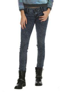 LOVEsick Indigo Endeavor Wash 2-Button Skinny Jeans