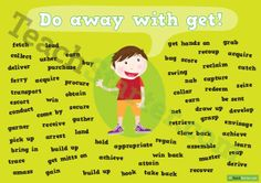 Other words for 'get' synonym poster | Teaching Resources - Teach Starter