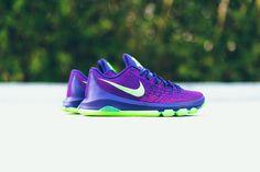 sports shoes 5e843 62cad Nike KD 8 GS - Court Purple Green Strike Fly Shoes, Nike Shoes,