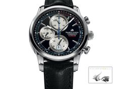 Maurice Lacroix Pontos Chronograph Black Dial Leather Mens Watch – Men's style, accessories, mens fashion trends 2020 Amazing Watches, Cool Watches, Watches For Men, Men's Watches, Mens Watches Leather, Leather Men, Maurice Lacroix, Retro, Automatic Watch