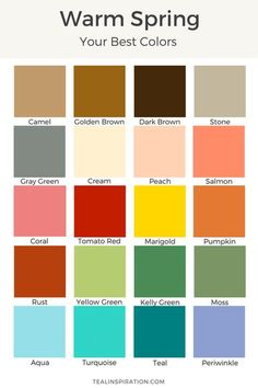 44 ideas for skin color palette warm spring Bright Spring, Warm Spring, Spring Colors, Clear Spring, Color Type, Colour Combo, Type 1, One Photo, Skin Color Palette