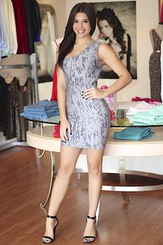 Gray One Shoulder Bandage Dress #fitted #bandagedress #party #ustrendy