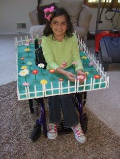 Halloween Costumes for People Using a Wheelchair - Pinned by #PediaStaff. Visit http://ht.ly/63sNt for all our pediatric therapy pins