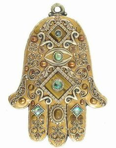 Golden Hamsa Plaque
