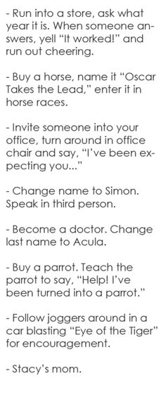 Is it bad that I want to do some of these things??... giggling.. <3