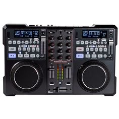 1115000004-Encore 2000 ‐All‐in‐One Dual CD/MP3 Player/2‐Channel Audio Mixer and MIDI Controller + Bundled with Virtual DJ LE software ‐2 Channel Pro Mixer Built‐in ‐ Inputs: 2 CD (built‐in), 2 Line,1Aux,1 Mic ‐ Bass, Mid,Treble&Gain adjustment for each channel ‐Relay playback between two CD Players ‐Plays MP3, CD & CD‐R discs ‐ Instant Start ‐2 USB slots for thumb drives or hard drives ‐Built‐in 4x4 Audio interface ‐USB Media player Fader Start ‐+10 track advance button ‐ Digital Scratch…