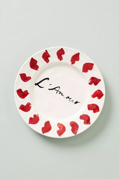 Hotel Magique for Anthropologie Melange Dessert Plate | Anthropologie Of Brand, Best Brand, Side Plates, Paper Goods, Valentine Gifts, Stoneware, Decorative Plates, Product Launch, Graphic Design