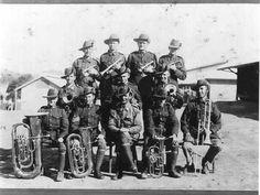PH 2261. The 14th Battalion Band, Prahran Regiment, taken at Seymour Camp, 11-18 February 1931.