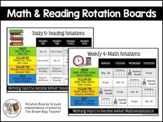 Reading and Math Rotation Boards