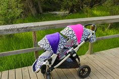 city select canopy cover and stroller seat liner by bubbaandblue, $110.00