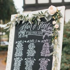fabulous vancouver wedding Blair & Steve's gorgeous seating chart on our Parisian chalkboard! | calligrapher @writtenwordcalligraphy | photo by @luketakesphotos  #vancouverwedding #vancouverwedding