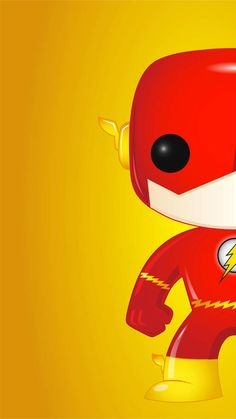 Phone Wallpaper in the style of Funko Pop Vinyls Flash Pop Wall Flash Wallpaper, Hero Wallpaper, Marvel Wallpaper, Iphone Wallpaper, Funko Pop Marvel, Boxing Day, Superhero Pop Art, Flash Comics, Dc Comics