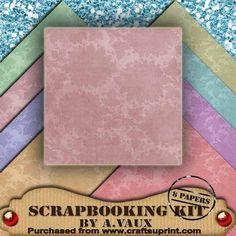 Regal Floral Embossed Pastels 8 Scrapbooking Papers Kit on Craftsuprint - Add To Basket!