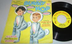 "Vicki Dale with The Peter Pan Orchestra-""BUNNY HOP"" 1959 Peter Pan 45 EP EASTER! #SingAlong"