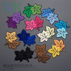 SK DIY Patches Maple Leaf Fresh Multicolor Embroidery Cloth Patch Stickers Decorative Stickers Diy Clothes Fill Holes Gum Past Diy Stickers, Decorative Stickers, Patch Shop, Diy Patches, Cloth Flowers, Clothing Patches, Embroidery Patches, Diy Clothes, Decorative Accessories
