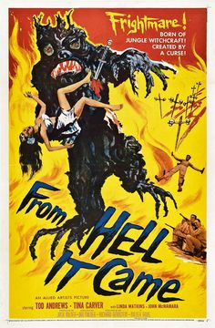 From Hell It Came. #Film #Horror #Movie # Poster