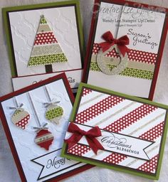 Stylish Holiday Cards Class, SU Cards, Washi Tape, by Wendy Lee, #creativeleeyours, Stampin Up!,