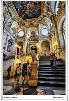 Interior Palacio Real Madrid  Spain