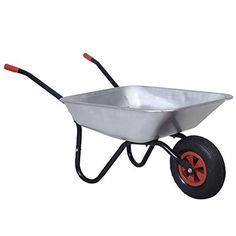 Beschreibung:  Die Einrad-Schubkarre ist eine klassische Einstiegskarre für die leichte Gartenarbeiten. Ob im Garten, auf dem Bau, oder überall sonst wo Lasten bewegt werden. Diese verzinkte Schubkarre hilft Ihnen bei der Arbeit.   Technische Daten:  Fassungsvermögen: ca. 65 Liter  Material: Verzinktes Metall  Reifendurchmesser: ca. 28 mm  Reifenmaße: 3,50-6