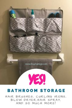 Use the Thirty-One Hang It pocket organizer to organize the bathroom and all those pesky things you want to keep off the counter!