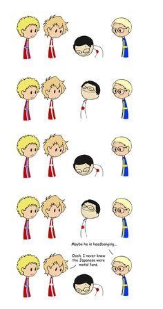 Japanese Custom - Scandinavia and the World Cute Comics, Funny Comics, Satw Comic, Funny Jokes, Hilarious, Funny Stuff, Cute N Country, Cartoon Shows, Funny