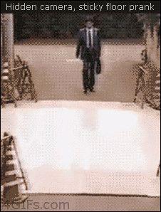 Oh my gosh! The Sticky Floor Prank....Bahahahahahahahahahahahahahahhahahahahaha!