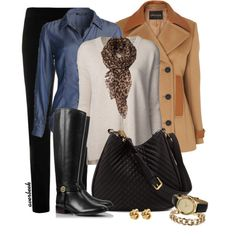 A fashion look from November 2013 featuring Giada Forte sweaters, NIC+ZOE blouses and Jaeger coats. Browse and shop related looks. Winter Fashion 2014, 60 Fashion, Fall Winter Outfits, Autumn Fashion, Fashion Ideas, Riding Boot Outfits, Riding Boots, Modest Casual Outfits, Casual Attire
